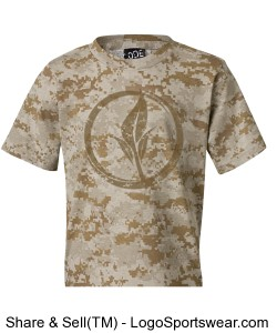Youth Code V Camouflage T-Shirt Design Zoom
